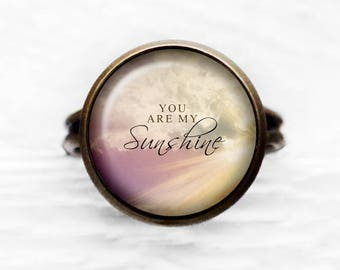 You Are My Sunshine Adjustable Ring