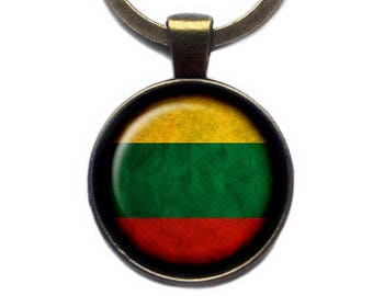Lithuania Lithuanian Flag Keychain Keyring