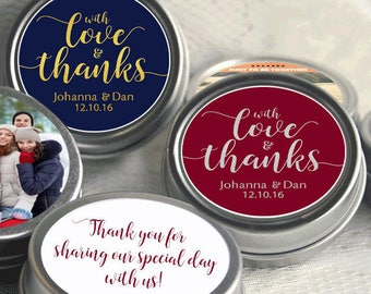 100 Personalized Wedding Mint Tins - Wedding Favor Mint Tins - Personalized Mint Favor - Mint to Be Wedding Favor - Mint Tin Favors