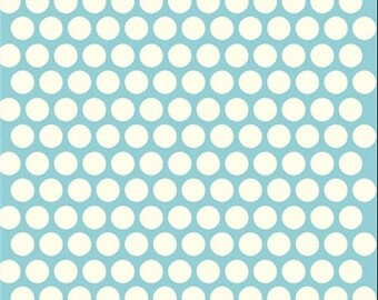 Birch Organic Cotton Dottie cream/Pool dots dab