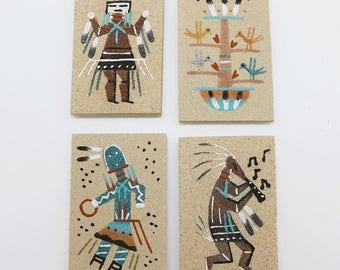 native american,navajo,navajo sand painting,magnet,native american art,native,yei,navajo art,sand painting, Navajo Sand Painting Magnet