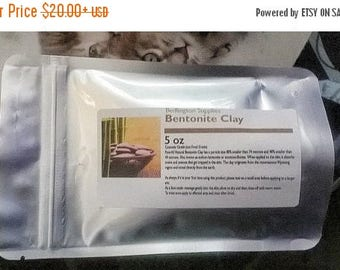 End of Summer CLEARANCE Bulk Sale on Cosmetic Grade Bentonite Clay, 5 oz pouch