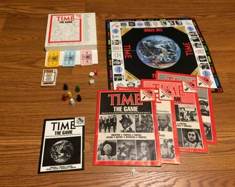Time: The Game (1983) Trivia Board Game By Time Magazine