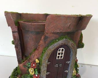 Solar powered Pot Fairy House