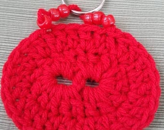 Crochet Infinity Red KeyChain