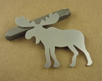 """1 3/4"""" Moose Aluminum Stamping Blanks, 14 Ga Thick, 1100 Aluminum, 5 Pieces"""