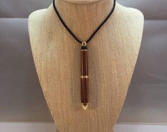 Detachable Necklace Pen - Wood Turned Pen - Necklace Pen