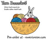 PRE-ORDER - Yarn Baaasket! , Cute Sheep enamel pin badge,  Knitters gift , Crochet gift, lapel pin, funny badge, cute badge,