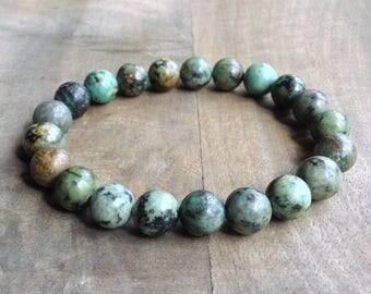 African turquoise bohemian bracelet boho chic bracelet gemstone bracelet womens jewelry boho chic jewelry rustic bracelet boho bracelet