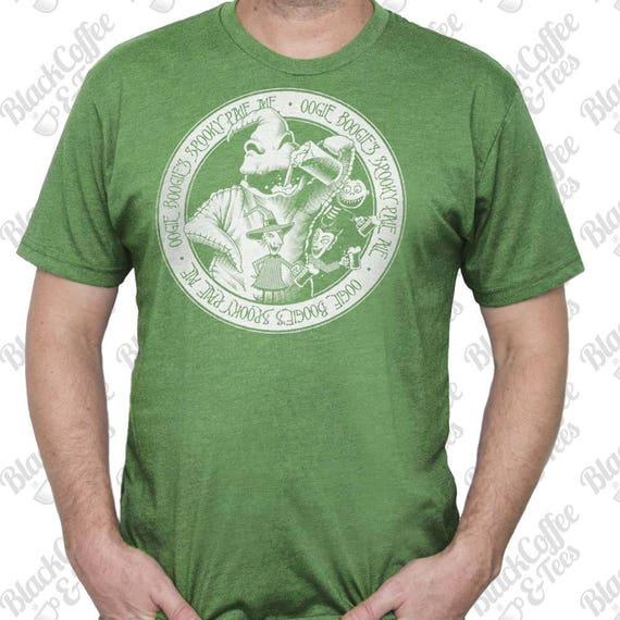 St Patricks Day Shirt -Oogie Boogie Shirt - Nightmare Before Christmas Shirt - Mens Craft Beer Shirt - Mens St Pattys Day Green Shirt