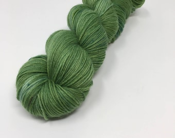 Grass Stains Indie Dyed Yarn on Merino cashmere Nylon MCN green tonal