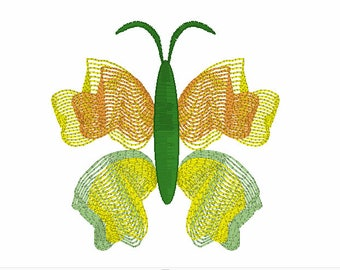 Float Like a Butterfly Embroidery Design,Butterfly Embroidery,Ribbion Embroidery Designs,Embroidery of Butterflies,Insect Embroidery