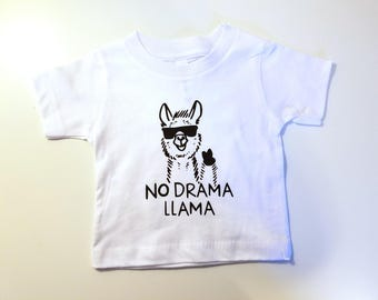 No Drama Llama Kid's Shirt, Cute Kid's Shirt, Kid's Llama Shirt, No Drama Kid's Shirt, Hipster Kid's Shirt, Cool Kid's Shirt
