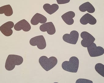 heart confetti, purple wedding confetti, table decor, engagement confetti, small heart, set of 100
