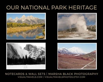 "National Parks Photography, ""Our National Park Heritage Collection"" Prints, National Parks Wall Art, National Parks Note Cards"