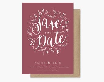 Save the Date Rustic Printable