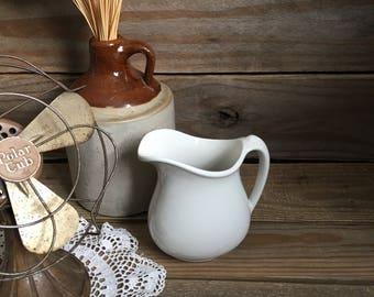 Vintage Ironstone - Ironstone Creamer - Small Pitcher - White Ironstone - Tepco Ironstone - Farmhouse Decor - Farmhouse Kitchen