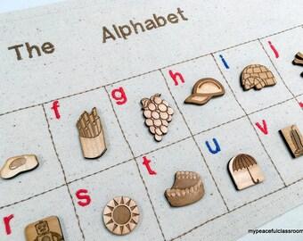 Alphabet Language Mat:  A Montessori-inspired Material in Organic Cotton Canvas