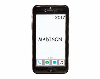Personalized Touch Phone Christmas Ornament