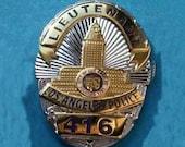 Columbo police badge