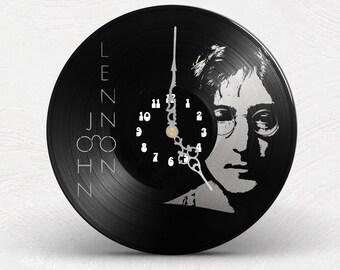 Clock watch wall vinyl The Beatles John Lennon 1 copy ONLY