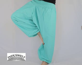 Solid color Harem Pants Sarouel Trouser lagoon