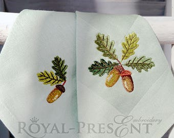 Set of Machine Embroidery Designs Acorns
