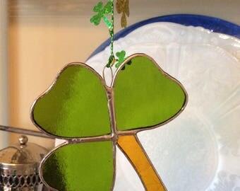 Stained Glass Shamrock Ornament Shamrock Sun Catcher