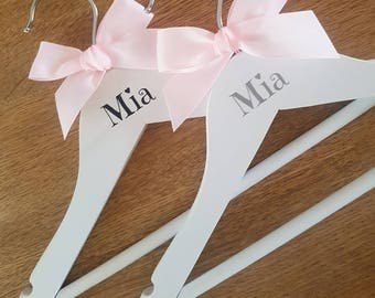 Children's, Baby Coat Hangers, Clothes Hangers, New Baby Gift, Name And Colour Of Your Choice.