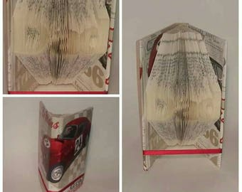 racing car themed dad book fold, cars, red, sports, sports car, motor, dad, father, fathers day