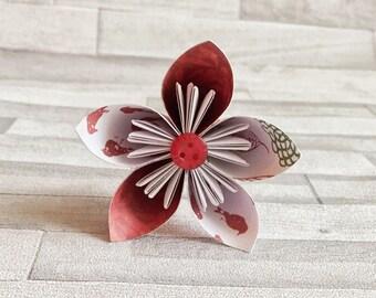 Red birds themed paper flowers, bouquet, floral arrangement, colourful, wedding center piece