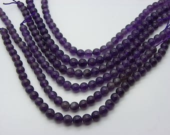 30 6 mm hole 1 mm natural purple amethyst