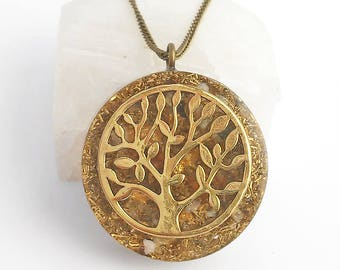 Orgonite® pendant - Tree of life/Large/spiritual jewelry/statement pendant/yoga jewelry/Energy pendant/EMF/Protection/resin/boho/symbol