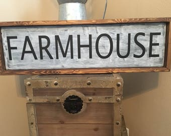 "Farm house wooden sign 27"" 9 """