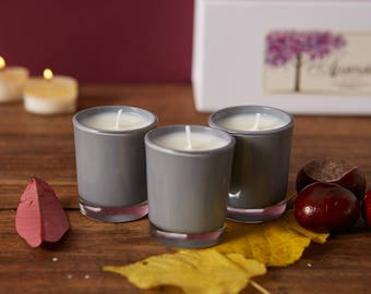 Valentine's day gift. Small votive candle with Vegan soy wax and natural oils
