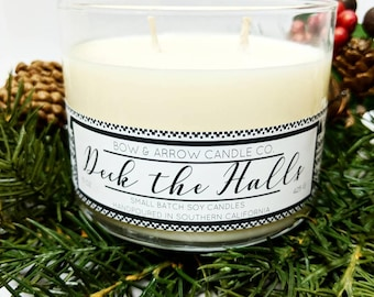 Berry and Pine Scented 15 oz Soy Candle | Winter Candle | Pine Scented | Soy Candle | Gift Idea | Double Wick Candle | Christmas Candle |