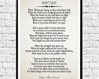 Lively image intended for don't quit poem printable