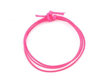 m 1 fuchsia waxed polyester cord 5 mm (19 (A)