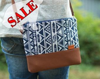 SALE Handbags Gift for her Blue Crossbody bag Purse Cross body bag Shoulder bag Faux Leather purse