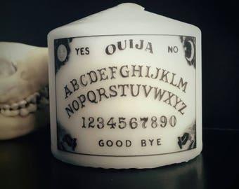 Ouija Board Small Pillar Candle Seance Goth