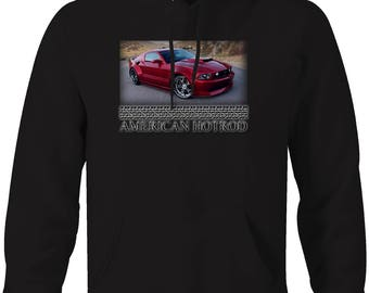 American Hotrod Ford Mustang Custom Muscle Hooded Sweatshirt- 5042