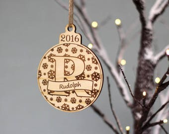 Personalised Letter Bauble