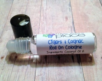 Cigars & Cognac Mens Cologne Oil, Mens Fragrance, Vegan Cologne, Roll On Cologne, Natural Cologne, Mens Grooming, Scented Oil, Mens Cologne