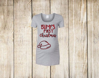 Bump's First Christmas Iron On Decal| Diy Iron On Decal| Heat Transfer Vinyl| Diy Glitter Iron On| NEXT DAY SHIPPING!