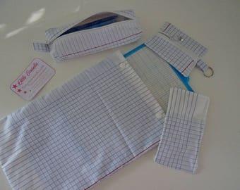 Home School Kit (erasable slate clean + bag + flat wallet bag)