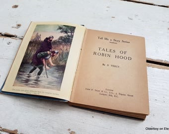 1930s Tales of ROBIN HOOD by S.Percy vtg book vintage Tell me a story Robin from Sherwood Forest collectible Robin Hood story book sz/911