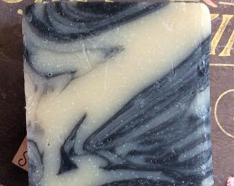 Dark forest soap with activating charcoal!