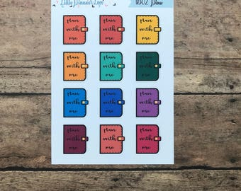 Plan With Me Planner Stickers for all Planners