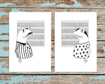 Mr. & Mrs. Frog - Illustration Art Print