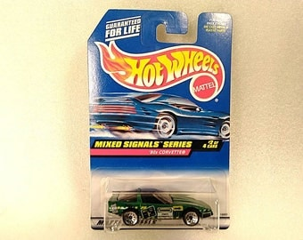"Vintage Hot Wheels Car Mixed Signals Series ""80s Corvette"" #2 of 4"